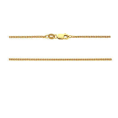 "20"" 0.8 mm. Square Wheat Necklace Gold Chain 14kt Yellow Gold"
