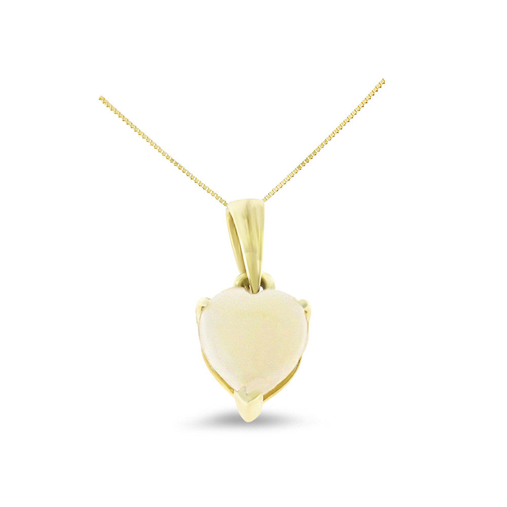 043ctw 6 mm heart shaped genuine natural opal pendant 14kt yellow heart shaped genuine natural opal pendant 14kt yellow gold aloadofball Images
