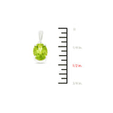 4.15ctw 6 x 8 mm. Oval Genuine Natural Peridot Set 14kt White Gold