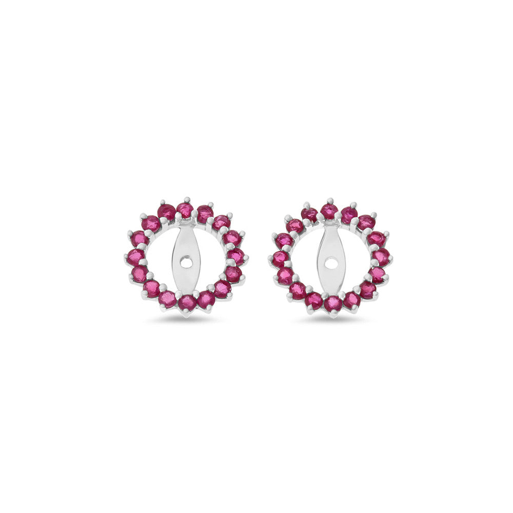 bali ruby cut earrings in p gemstone made silver sterling natural