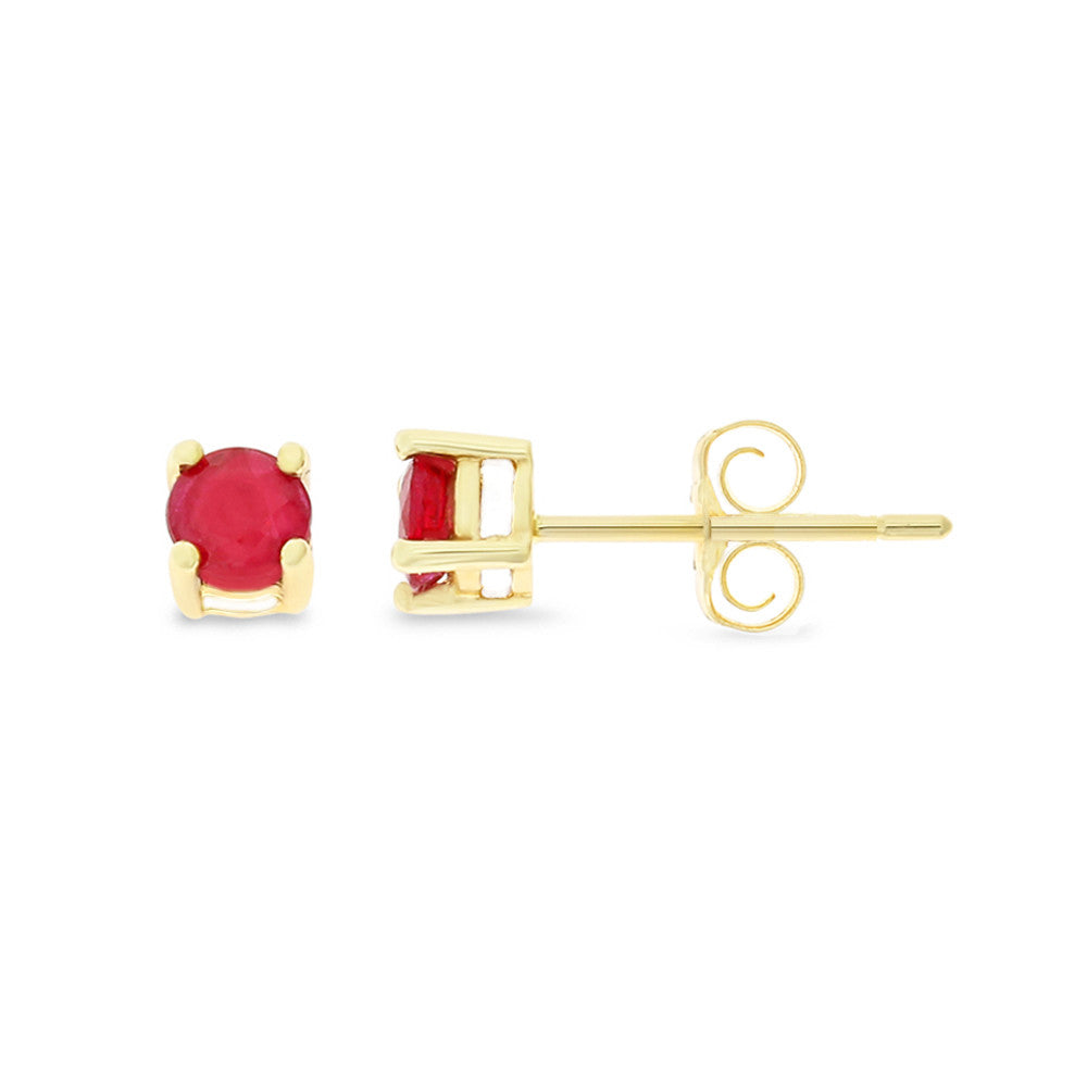image studs ruby loading gold itm yellow s is cluster stud natural earrings
