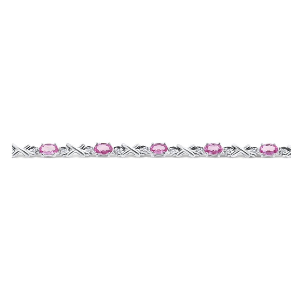 youtube four row pink diamond lab made bracelet custom watch