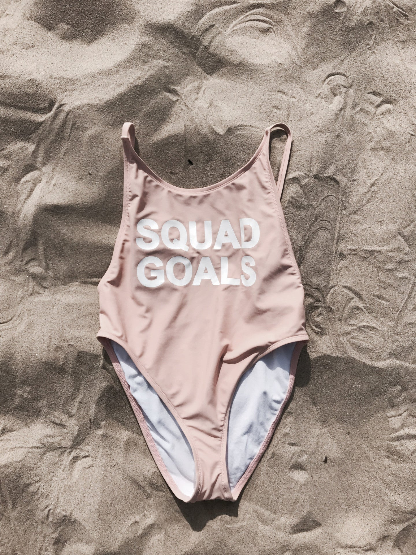 Squad Goals High-Cut One Piece X Blush