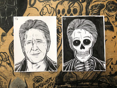 BRIAN WILSON living & dead original ink drawings set
