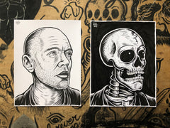 MICHAEL STIPE living & dead original ink drawings set