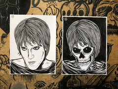 LUX INTERIOR living & dead original ink drawings set