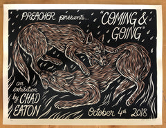 COMING & GOING screenprinted poster