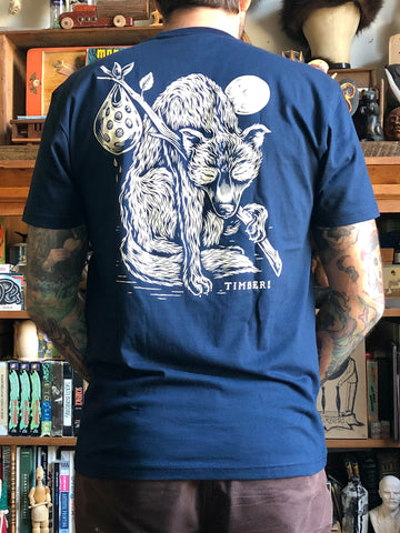 NEW!! LONE WOLF on midnight blue