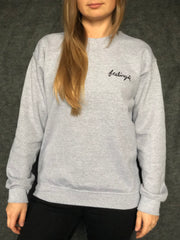 FEELINGS:  I'M YOURS on heather gray fleece pullover