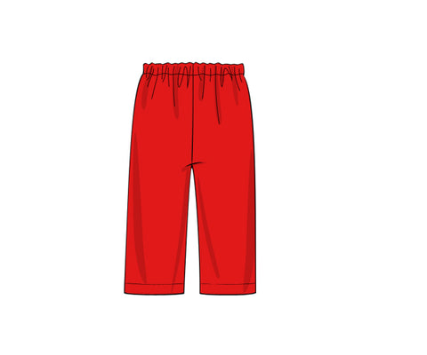Red Knit Boys Pants
