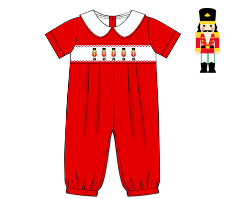 Red Smocked Nutcracker Boy's Bubble