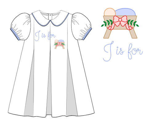 Hand Embroidered J is for Jesus Dress