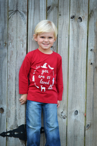 Boys Garnet Knit You Are So Loved Applique Shirt