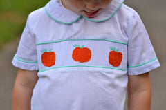 Mint Knit Smocked Pumpkins Pants Set
