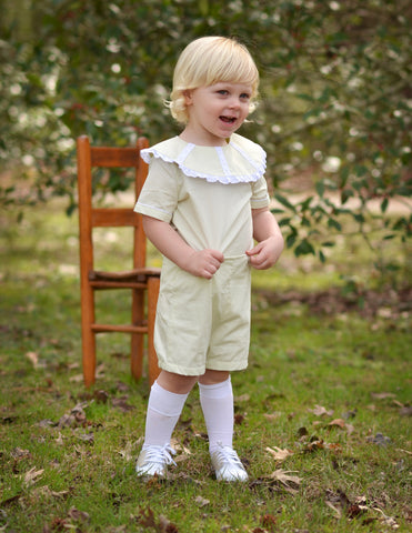 Heirloom Style Boys Button on Shorts Set