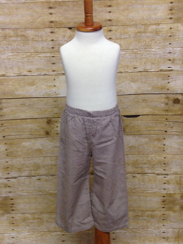 Boys Brown Gingham Pants