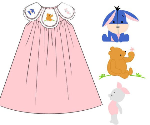 Baby Pink Bear & Friends Petal Dress