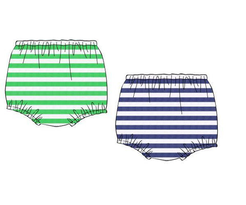 Reversible Knit Navy & Green Stripe Diaper Cover