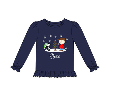 Girls Peanuts Appliquéd Shirt