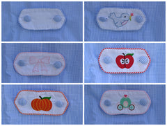Pumpkin Embroidered Tab