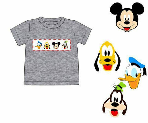 Boys Grey Mouse and Friends Shirt Only