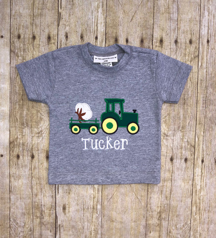 Monogrammable Tractor Pulling Cotton Shirt Onlly