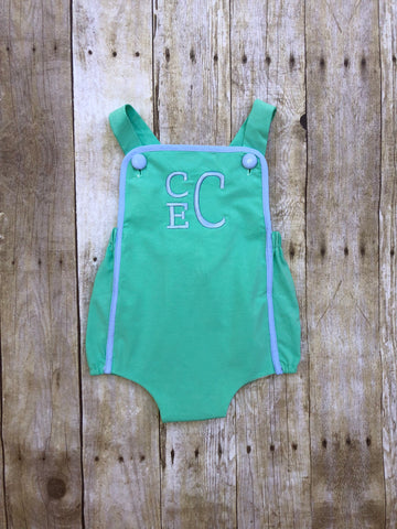 Monogrammable Mint Knit Colorblock Sun Bubble