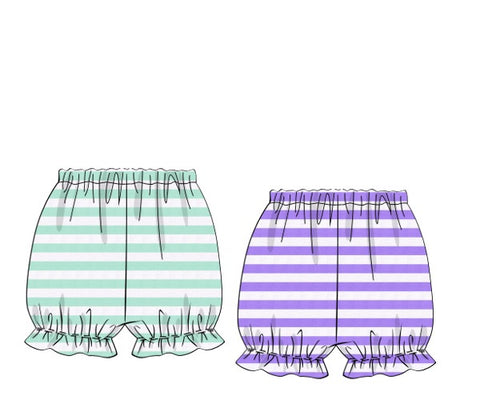 Reversible Mint & Lavender Stripe Bloomers