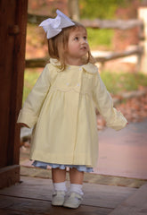 Girls Buttercream Corduroy Peacoat