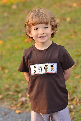 Brown Smocked Pilgrims Shirt