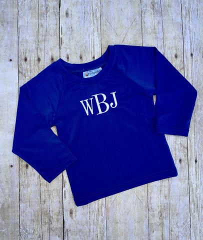 Royal Blue Rashguard SPF Shirt