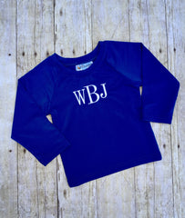 Royal Blue Rashguard SPF Shirt, swimsuits, The Smocking Bug, The Smocking Bug