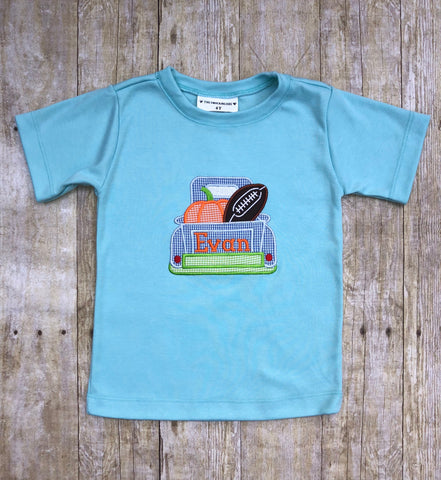 Boys Monogrammable Pumpkin Truck Shirt