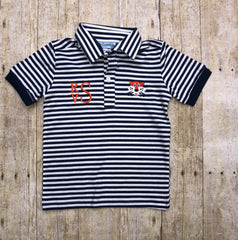Embroidered Tiger Monogrammable Boys Polo Shirt