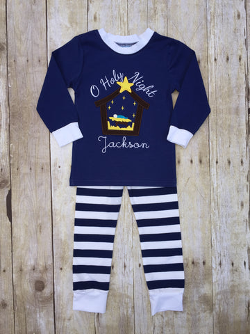 O' Holy Night Monogrammable Knit Pajamas