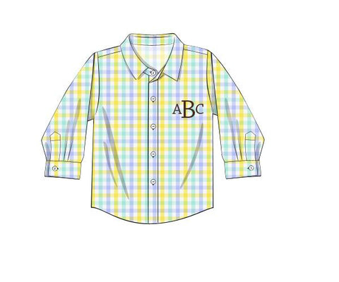 Monogrammable Plaid Button Down
