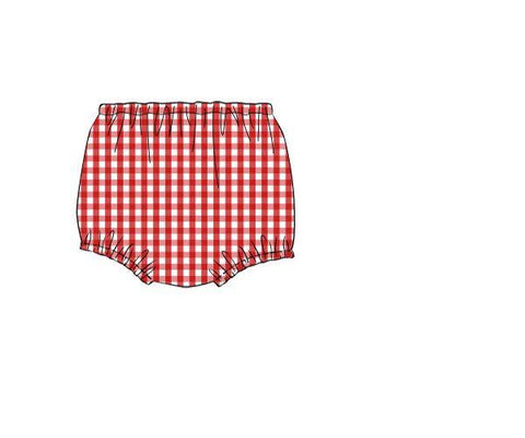 Red Gingham Diaper Cover