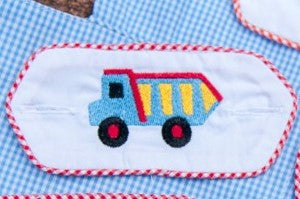 Embroidered Dumptruck Tab