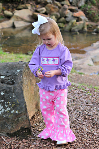 Lavender Smocked Unicorns Shirt