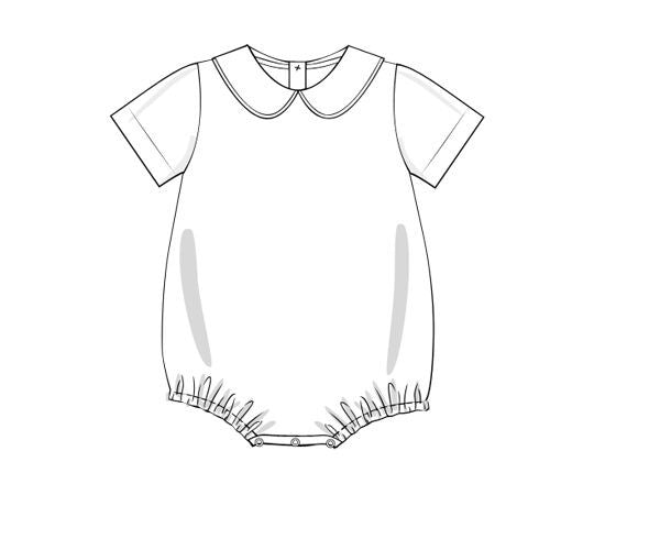 Boys Knit Short Sleeve Peter Pan Collar Shirt with Snap Closure, Boys Shirt, The Smocking Bug, The Smocking Bug
