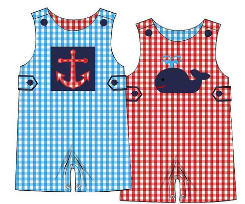 Reversible Whale/Anchor Applique Jon Jon