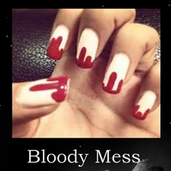 Halloween Nail designs Bloody Mess
