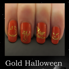 Gold Halloween Nail Designs