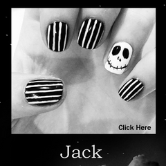 Jack Skellington Halloween Nail Design