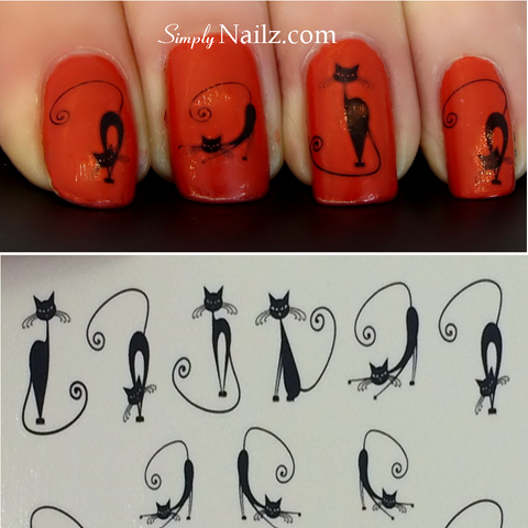 Cats Nail Art Water Transfers