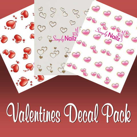 Valentines Nail Decal Bundle