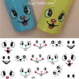 face nail water decal