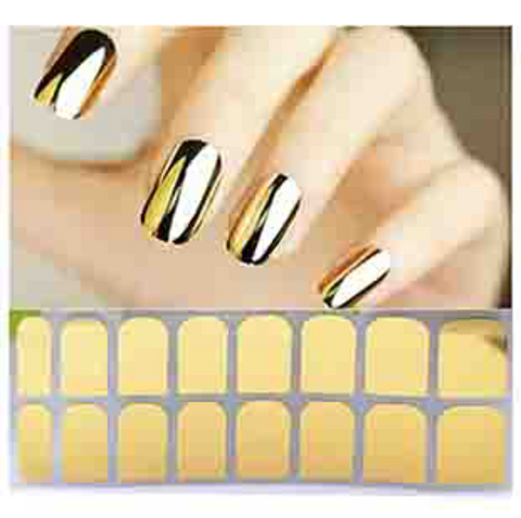 Golden Full Nail Stickers