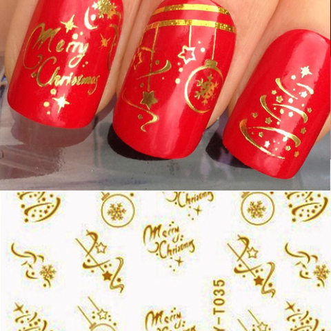 Golden Xmas Decals Mix