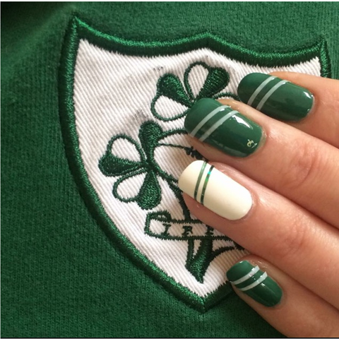 Ireland Rugby Nail Striping Tape